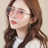 太陽眼鏡新款墨鏡女潮韓版GM太陽鏡復古原宿圓臉太陽眼鏡 潮人女鞋