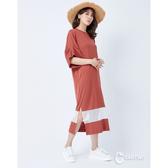 CANTWO休閒拼接網狀洋裝-二色~春夏新品單一特價