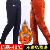 保暖褲 棉褲男加絨加厚駝絨高腰外穿老年人東北爸爸寬鬆保暖褲 老人冬季 快速出貨