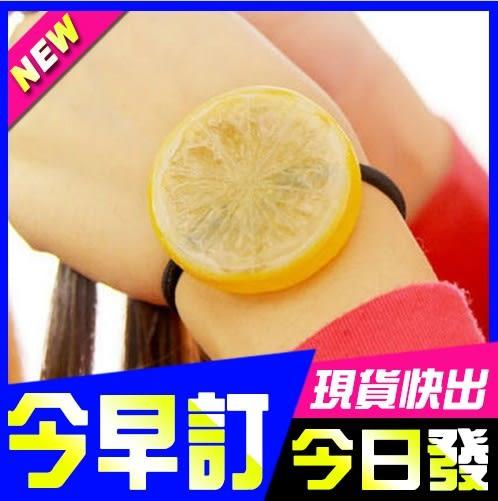 [24hr-快速出貨]  新年 禮物 檸檬 髮圈 西瓜 髮圈 橘子 頭繩 髮繩 水果髮 飾品 頭飾 頭花 皮筋