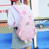 韓版少女心卡通可愛小豬帆布原宿風日繫軟妹學生書包女雙肩背包潮  瑪奇哈朵