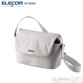 攝影包 ELECOM側背單反休閒相機包normas佳能尼康戶外斜背攝影包DGB-S031 城市科技