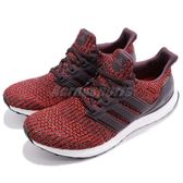 adidas 慢跑鞋 Ultra Boost Burgundy 紅 白 運動鞋 舒適緩震 襪套式 男鞋【PUMP306】 CP9248