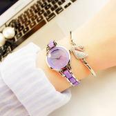 女手錶女學生正韓簡約休閒大氣時尚潮流手鏈錶女士防水石英女錶