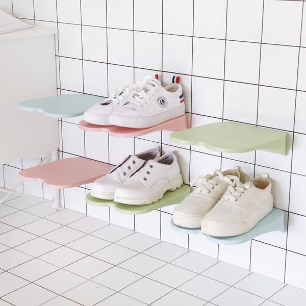 微納物語簡約經濟型省空間粘貼式鞋架浴室墻面粘貼鞋架鞋子收納 新年禮物