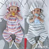 中大尺碼嬰兒爬行服  新生兒衣服3-6-12個月連體衣秋冬睡衣保暖哈衣寶寶 KB10721【歐爸生活館】