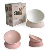貓碗斜口碗任意傾斜寵物碗保護頸椎防滑狗碗斗牛扁臉食盆【快速出貨】
