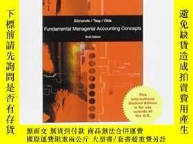 二手書博民逛書店Fundamental罕見Managerial Accounting ConceptsY307751 Thom