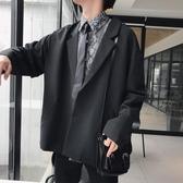 西裝外套 春季正韓chic復古bf風西裝外套男士復古 【免運86折】