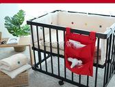 嬰兒床收納袋 嬰兒床掛袋床頭尿片收納袋兒童儲物袋尿不濕便捷掛袋尿布袋 珍妮寶貝