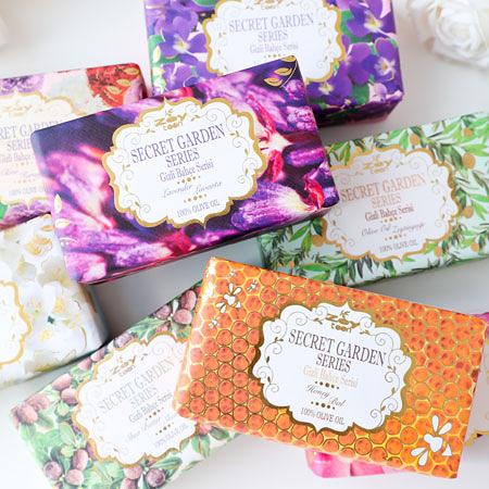 歐洲原裝進口 秘密花園主題系列手工皂 250g 身體皂 肥皂 香皂 手工皂 土耳其製造 橄欖之鄉 Zey teen