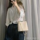 手提包 包包女新款潮夏天簡約單肩手提包時尚斜背包鍊條包百搭小方包 【618特惠】