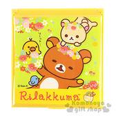 〔小禮堂〕懶懶熊 折疊鏡《黃.戴花圈.躺草地.朋友》 4718733-20961