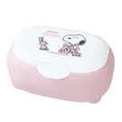 小禮堂 史努比 日製 收納盒 橢圓形 按壓彈蓋 紙巾盒 棉花盒 小物收納 (S 粉 兔子) 4904121-34151