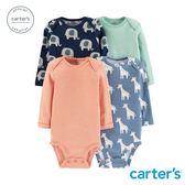 Carter's 台灣總代理  小小動物4件組包屁衣