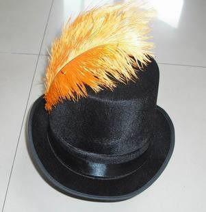 cos服裝 爵士舞羽毛高禮帽