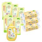 【暢貨特賣】nac nac - 天然酵素洗衣精1罐5補充包 + 二用紗布巾3包