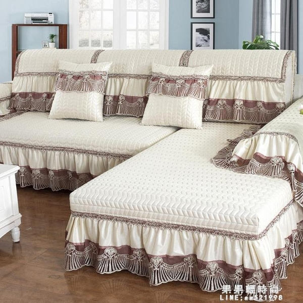 四季通用沙發墊布藝歐式簡約現代防滑皮坐墊萬能全包沙發套罩全蓋【果果新品】