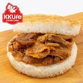 【KK Life-紅龍】鮮香洋菇豚燒米漢堡 (170g/顆; 3顆/袋)
