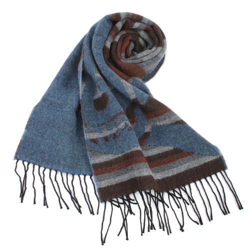 Vivienne Westwood 經典LOGO 骷顱頭條紋圍巾(藍色)910524-1