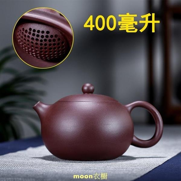 球孔大西施紫砂壺卡蓋西施壺半手工紫泥大號紫砂壺球孔過濾40 快速出貨
