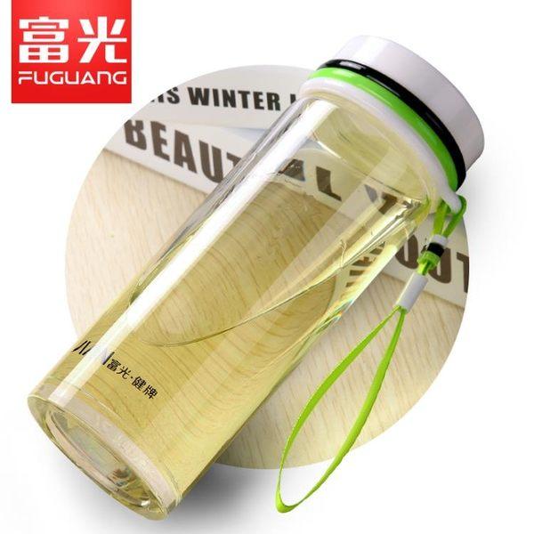 泡茶杯運動420ML單層水杯 帶提繩隨身玻璃杯時尚男女式杯子【巴黎世家】