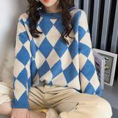 ZUCAS~(ER-5858)慵懶風毛衣女套頭寬鬆小清新長袖針織衫