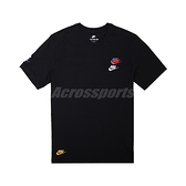 Nike 短袖T NEW Tee 男款 黑 彩 刺繡 小勾 三勾 純棉 【ACS】 DJ1569-010