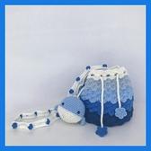 泫雅同款編織包鉤織diy手工自制抖音鉤針線草莓包包材料包水桶包 黛尼時尚精品