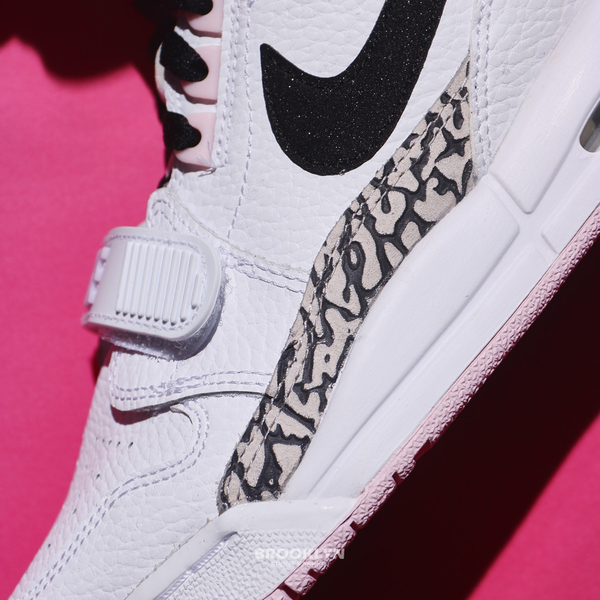 NIKE 籃球鞋 AIR JORDAN LEGACY312 GS 白黑粉紅 爆裂紋 女 (布魯克林) AT4040-106