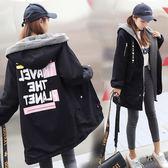 韓版新款BF風棉衣外套女中長款加絨羊羔毛學生棉服女寬松