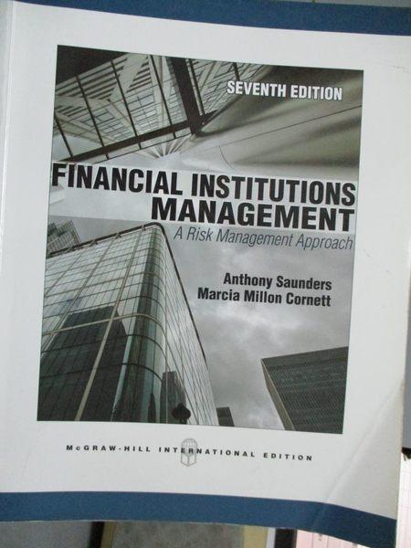 【書寶二手書T9/大學商學_WEJ】Financial Institutions Management: a Risk