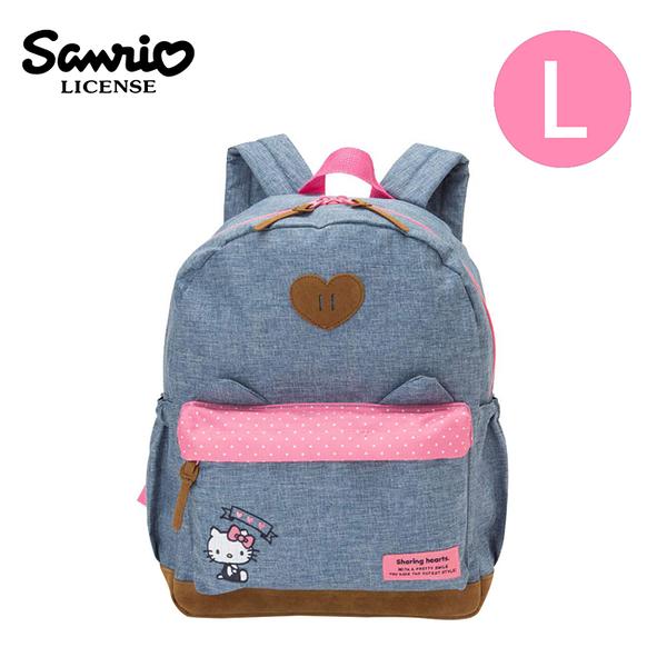 【日本正版】凱蒂貓 兒童背包 L號 後背包 背包 書包 Hello Kitty 三麗鷗 Sanrio - 791905