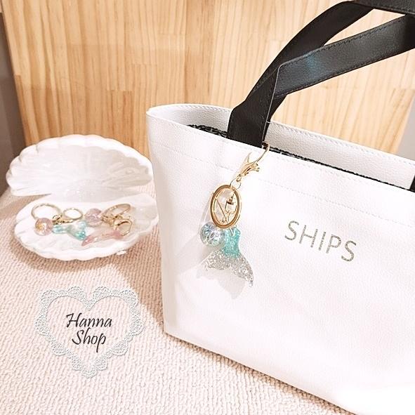 《花花創意会社》外流。SHIPS清新感白撞色皮革手提包【H6647】