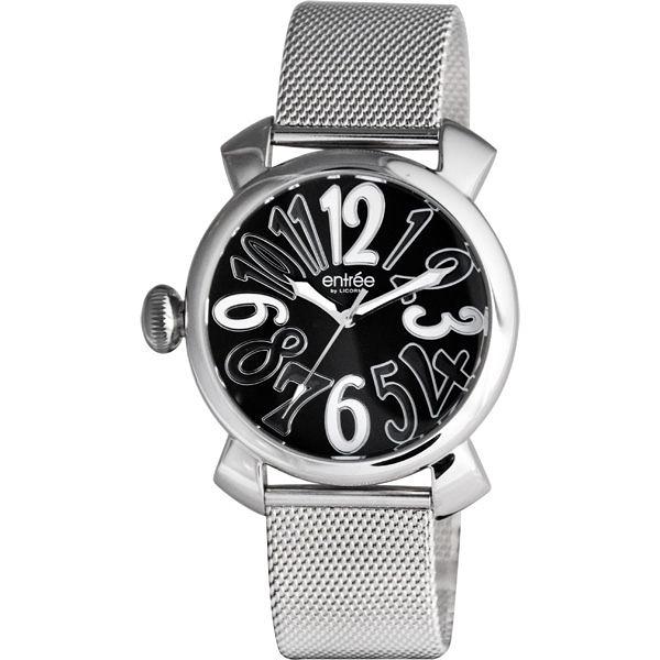 LICORNE entree 繽紛季風靡時尚米蘭腕錶(黑色)