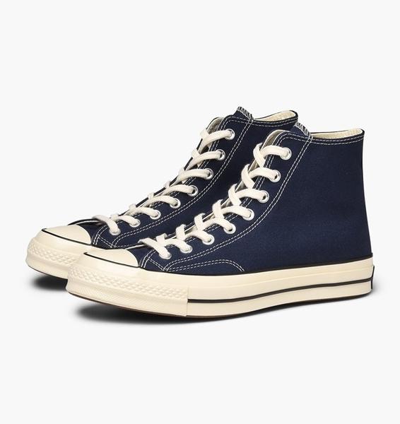CONVERSE-深藍高筒帆布鞋-NO.164945C