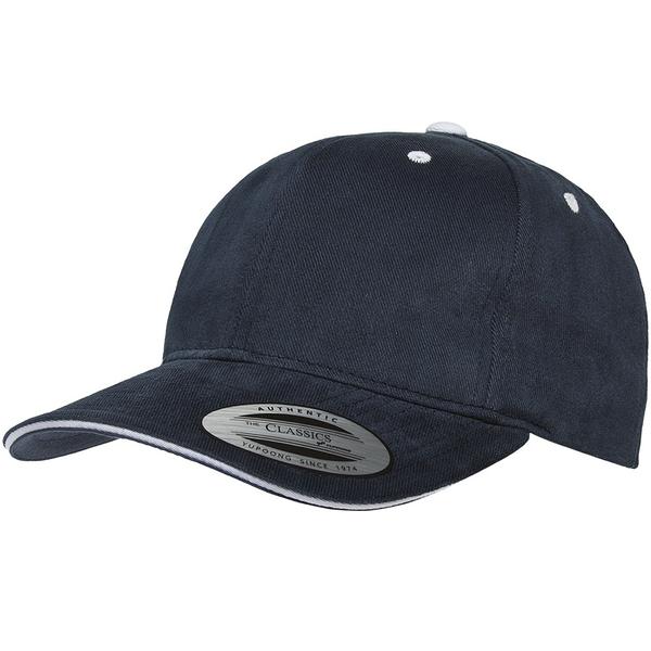 YP BASICS Brushed Cotton Sandwich Visor 鴨舌帽 海軍藍白點  帽子 休閒 / 街頭 / 百搭