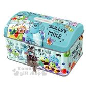 〔小禮堂〕迪士尼怪獸大學方形鐵製存錢筒附鎖《綠甜點》撲滿儲金筒精緻盒裝4935124 50549