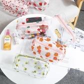 2個裝 泫雅花朵透明防水化妝包女便攜大容量收納旅行洗漱包【極簡生活】
