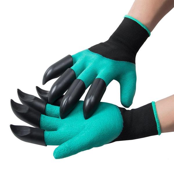 園藝挖土手套一雙入 堅硬護甲爪子手套 園藝種花摘採防護護手手套【ZD0304】《約翰家庭百貨