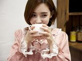 La Luna 精品睡衣 秋冬新款韓國製成套睡衣居家服- 甜美粉紅雙色點點
