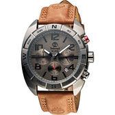 Timberland Oakwell 探險王計時腕錶-鐵灰x咖啡/44mm TBL.13670JSU/61
