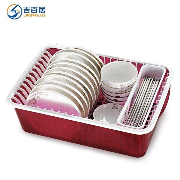 小熊居家碗柜塑料廚房瀝水碗架帶蓋碗筷餐具收納盒放碗碟架滴水碗架置物架特價