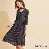 網路獨賣 | MOMA 開襟雪紡圓點洋裝