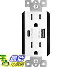 [9美國直購] TOPGREENER TU21548AC USB 插座 Outlet with USB Type C/A Charging Ports 5V/4.8A, 15A Tamper Resistant Receptacle