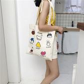 帆布袋 卡通 童趣 帆布包 簡約 手提袋 環保購物袋--手提/單肩【SPA206】 icoca  07/19