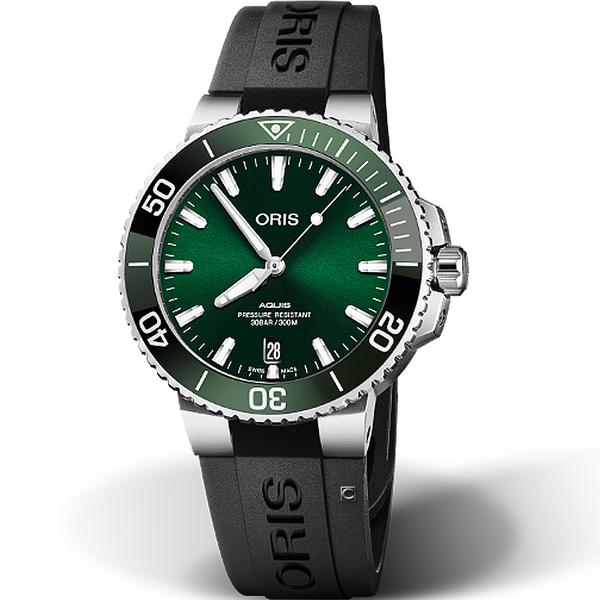 Oris豪利時Aquis時間之海300米潛水機械錶 0173377324157-0742164FC