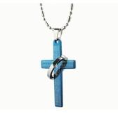 鈦鋼項鍊(一對)-十字架守護生日聖誕節交換禮物男女對鍊73cl90【時尚巴黎】