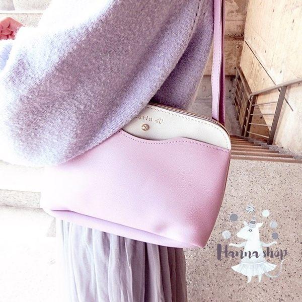 《花花創意会社》外流。LURIA寶石優雅紫梯形揹包【H4892】