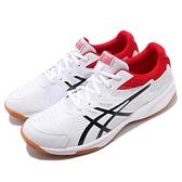 Asics 排羽球鞋 Court Break 白 黑 紅 膠底 男鞋 運動鞋 基本款【ACS】 1071A003110